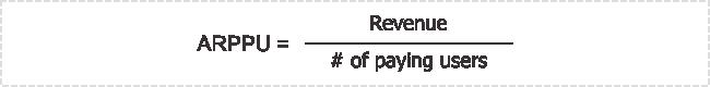 Average Revenue Per Paying User (ARPPU)